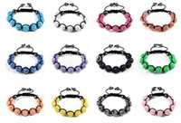 wholesale hematite jewelry - 24pcs MM Resin Crystal Beads Multicolor Bracelets Bling Hematite Beads Bracelet Jewelry