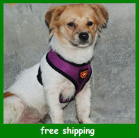 Wholesale 1pcs Sample order Popular Pet Harness with Mesh fabric material breathable Dog Cat Leashes