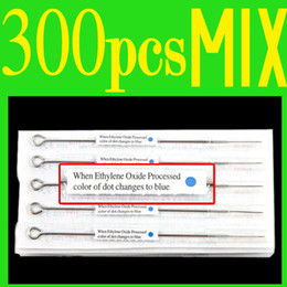 Wholesale 300pcs High qualtiy Disposable Sterillized Tattoo Needles Tattoo machine needles Supply Assorted Sizes for beginner tattoo kits supplies