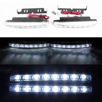 White 8 LED  2X Car 8 LED DRL Driving Daytime Running Day LED Light Head Lamp Super White New