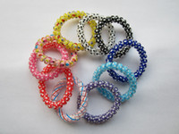 Wholesale colorful elastic hair bands telephone wire colors mixed