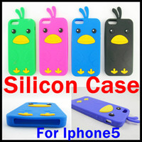mobile phone silicone case - Silicone Chicken Cover Case for iphone th for iphone5 mobile phone protective case colors
