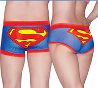 Wholesale New Superman couple underwear cotton briefs colors and pieces