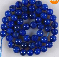 Wholesale 8mm Blue Egyptian Lazuli Lapis Gemstone Loose Bead