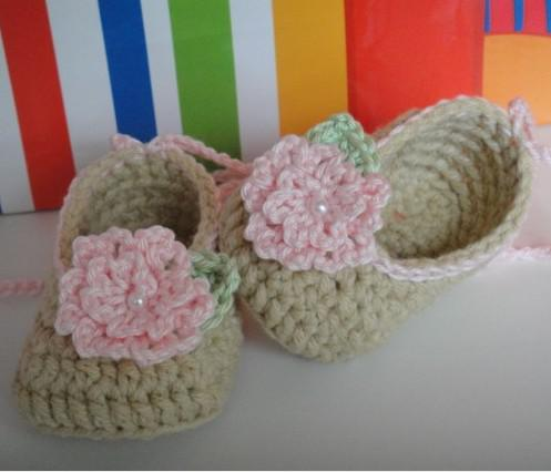 baby shoes pattern white wool shoes 0-12 baby girl flower shoes