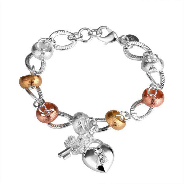 H233 Bracelet Silver Jewelry Jewellry Charm Tag Chain Bracelets ...