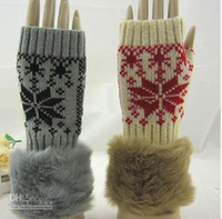 Wholesale Hot sale Fashion Knitting gloves woman winter warm Imitation rabbit hair Long gloves