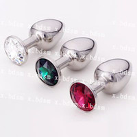 Wholesale 1pcs Stainless Steel Attractive Butt Plug Jewelry Jeweled Anal Plug Random send color