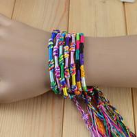 Wholesale weave rope string friendship bracelets handmade charm Strand bracelet B162