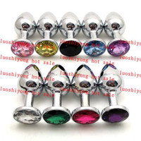 Wholesale 20pcs Stainless Steel Attractive Butt Plug Jewelry Jeweled Anal Plug Rosebud Anal Jewelry