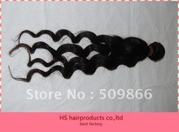 Wholesale top quality queen hair Indian vrigin hair extension natural color more wave kilo