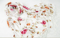 Wholesale 2012 fashion new lace embroidery sequins Scarf Pendant upscale shawls gradient scarf