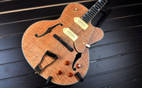 Wholesale Classical High Quality Grote Jazz Electric guitar Hollow Body With flame Maple top