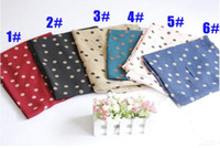 Wholesale women s chiffon polka dot print scarf popular long shawls silk fashion scarves HQJ35102