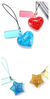 Wholesale 48pcs D mini star love heart crystal d puzzle with keychain