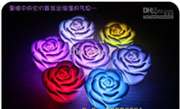 7 Changement de couleur LED flottant rose fleur bougie lumière électronique lampe chirstmas cadeau 120pcs / lot