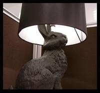 Wholesale MOOOI Modern Design Rabbit Table Lamp lighting lamps resin black animal