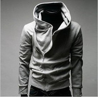 Wholesale High Collar Men s clothes Men s Dust Hoodies Clothes Drop Shipping amp