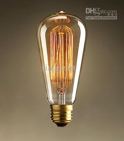 1910 antique vintage edison light bulb 40w 220v radiolight. Black Bedroom Furniture Sets. Home Design Ideas