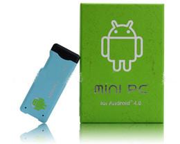 Mayoristas 2012 Nuevo Android Mini PC IPTV Dongle Allwinner A10 CPU 1 gb de RAM de 4GB WiFi TV Stick Mini PC