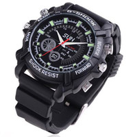 Wholesale 16GB Waterproof P IR Spy Watch DVR with Rubber Bracelet Support Night Vision