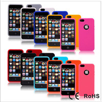 Wholesale Finger Print Design Silicone Skin Case Cover for iPhone G th colors