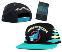 Wholesale Pink Dolphin Mascot Snapback hats fans version cap baskeball snapback cap green and black diamon hat