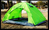 Wholesale Outdoor Double Double deck Glue aluminum rod Tent Camping Tent