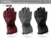 Wholesale Snowboard Ski Gloves M L Waterproof Windproof Red Grey Black