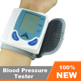 Wholesale Automatic Digital Wrist Blood Pressure Monitor amp Heart Beat Meter With LCD Display with Box EB618
