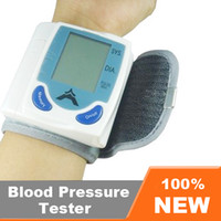 Wholesale Automatic Digital Wrist Blood Pressure Monitor amp Heart Beat Meter LCD Display with Box EB618