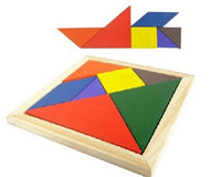 Wholesale tangram cm Early Childhood wooden toys clever board puzzle intellectual wooden toys