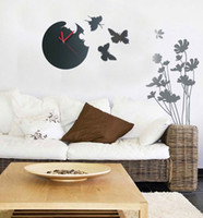 Wholesale 2pcs Fashionable and new design DIY butterfly clock for home decoration