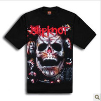 Wholesale Non mainstream rock metal band live skull heaven clean standard cotton male tee T shirt