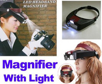 Wholesale Watch Repair Head Headband Magnifier Glasses Loupe X With LED Light