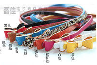Wholesale Women s Fashion Bowknot Design Thin Waist Belt colors
