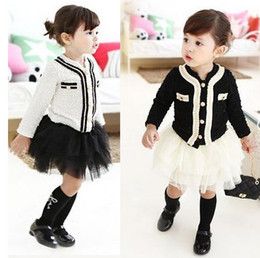 Wholesale Baby girls suits children pc set elegant cardigan skirt girls suit B gxs