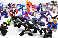 Wholesale retail DC superheroes action figures doll cm set of styes batman superman joker mini PVC figure
