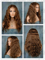 Wholesale Queen Hair Indian Remy Human Hair Swiss Lace Front Wigs quot Glueless Cap Body Wave