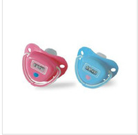 Wholesale LCD Digital Infant Temperature Nipple Baby Thermometer Pink amp blue EMS fast