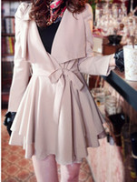 Wholesale 2014 fashion Women trench coat autumn winter outfits outwear coats girl lady clothing suits XMAS