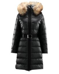 Wholesale Winter Down Coats Nantesfur Long Coat Women Black Decorative