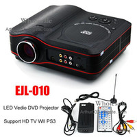Wholesale Fashion New EJL RGB LED Vedio DVD EVD Projector Home Entertainment inch LCD Theater MP5 Input P Support SD HD AV TV USB WII PS3