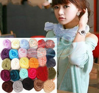 Wholesale Hot Fashion Korean version of a long scarf candy color fold crinkle scarf silk scarf
