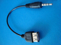 Wholesale mm aux quot Male audio to USB A female Charge data adapter cable