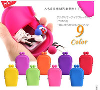 Wholesale silicone coin purse makeup make up bags purse money bag japanese style wallet