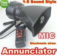 Wholesale 100W Annunciator in1 Tone electronic siren with MIC car loudspeaker