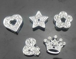 Wholesale 100pcs mm slide charms DIY accessories fit mm Collar Wristband Bracelet NO