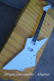 electric guitar body explorer white mahogany guitar body