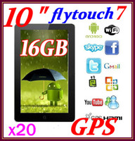 Wholesale 20pcs GB Flytouch GPS quot A10 GHz Android Tablet PC G Superpad RW L09